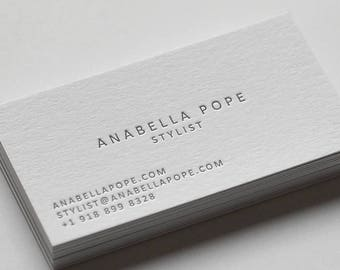 100 custom letterpress business cards - Letterpress Business Cards