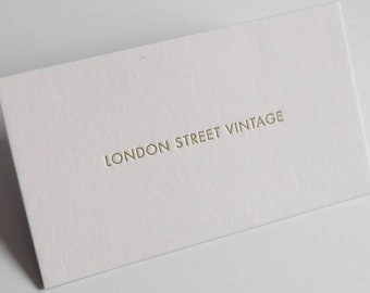 100 Double Sided Custom Letterpress Business Cards