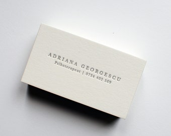 100 daniel ocean letterpress business cards etsy 150 custom letterpress business cards reheart Choice Image