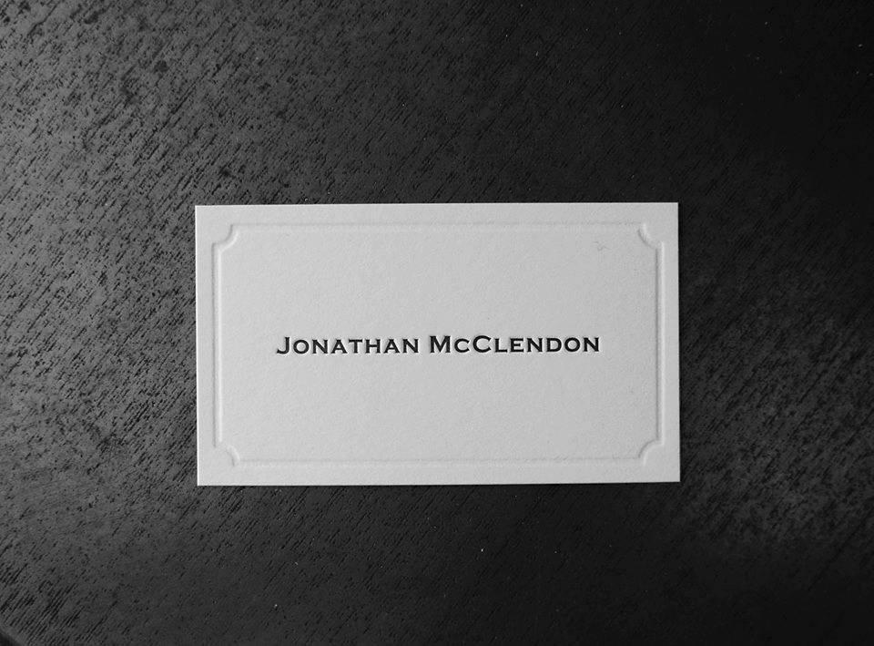 100 Daniel Ocean letterpress business cards