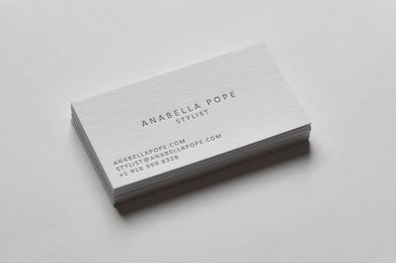 100 custom letterpress business cards etsy image 0 colourmoves
