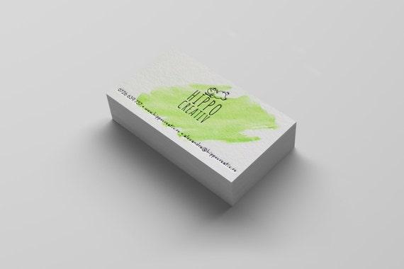 100 hand painted custom letterpress business cards etsy image 0 colourmoves