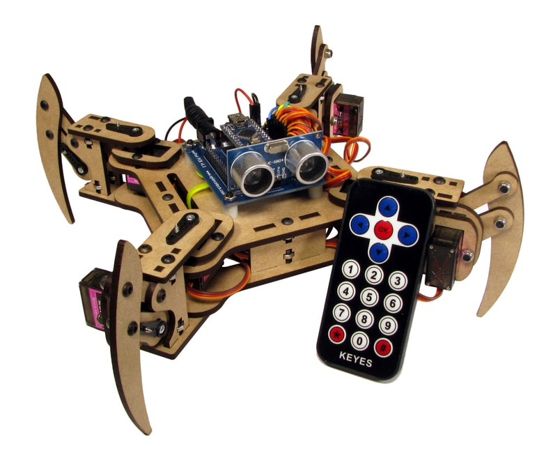 mePed v2 Quadruped Walking Robot  Complete Kit image 0