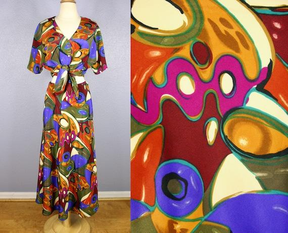 Vintage 70s HATTIE CARNEGIE Outfit Designer Dress