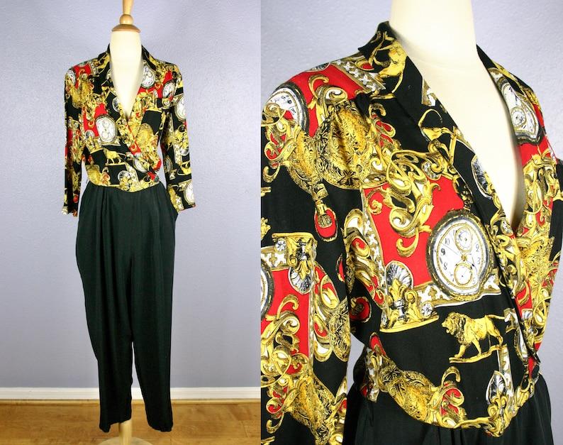 1a9367f7a4 Vintage 80s Jumpsuit 1990s Jumpsuit Hip Hop Jumpsuit Retro