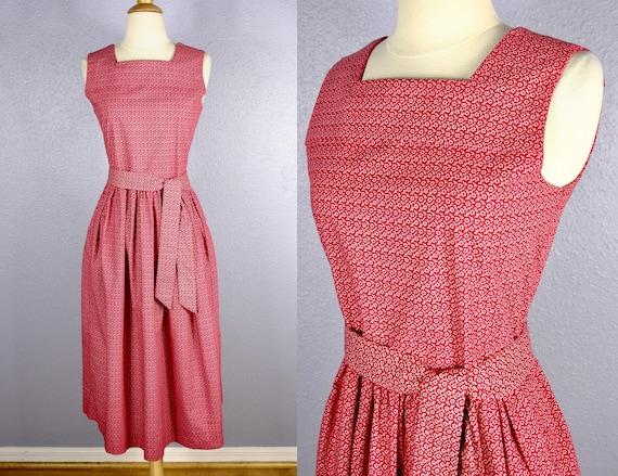 Vintage 80s Laura Ashley Dress PINAFORE Dress CHRI