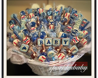 Baby baby shower chocolate basket commack or carle place baby baseball baby shower chocolate basket commack pickup only negle Image collections