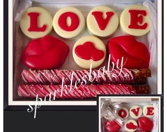 Valentine S Day Chocolate Covered Oreo Rice Keiepie Treat Etsy