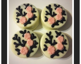 Japanese Cherry Blossom Chocolate Covered Oreos, Cherry Blossom Cookies