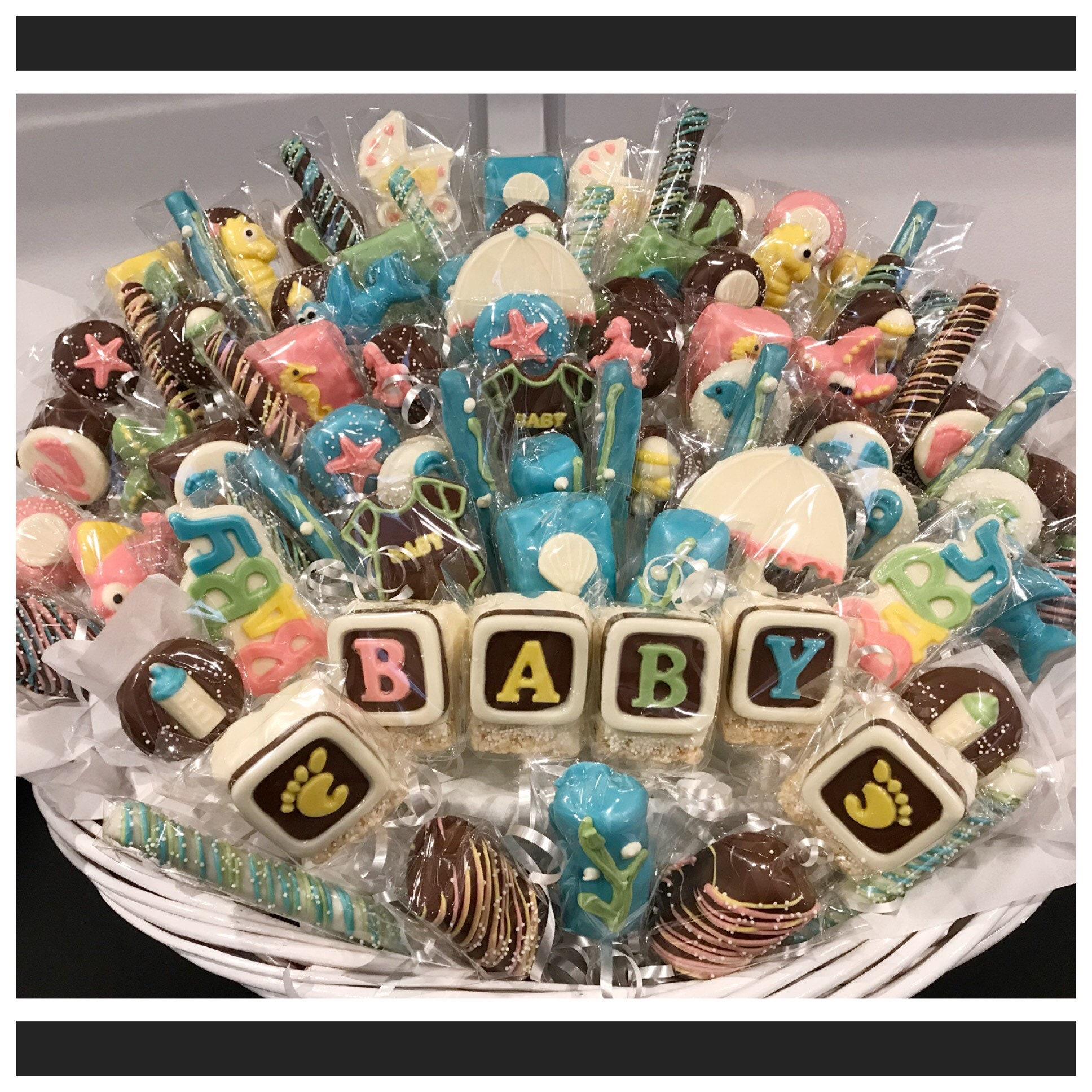 Under The Sea Themed Baby Shower Chocolate Basket Commack Pickup Only