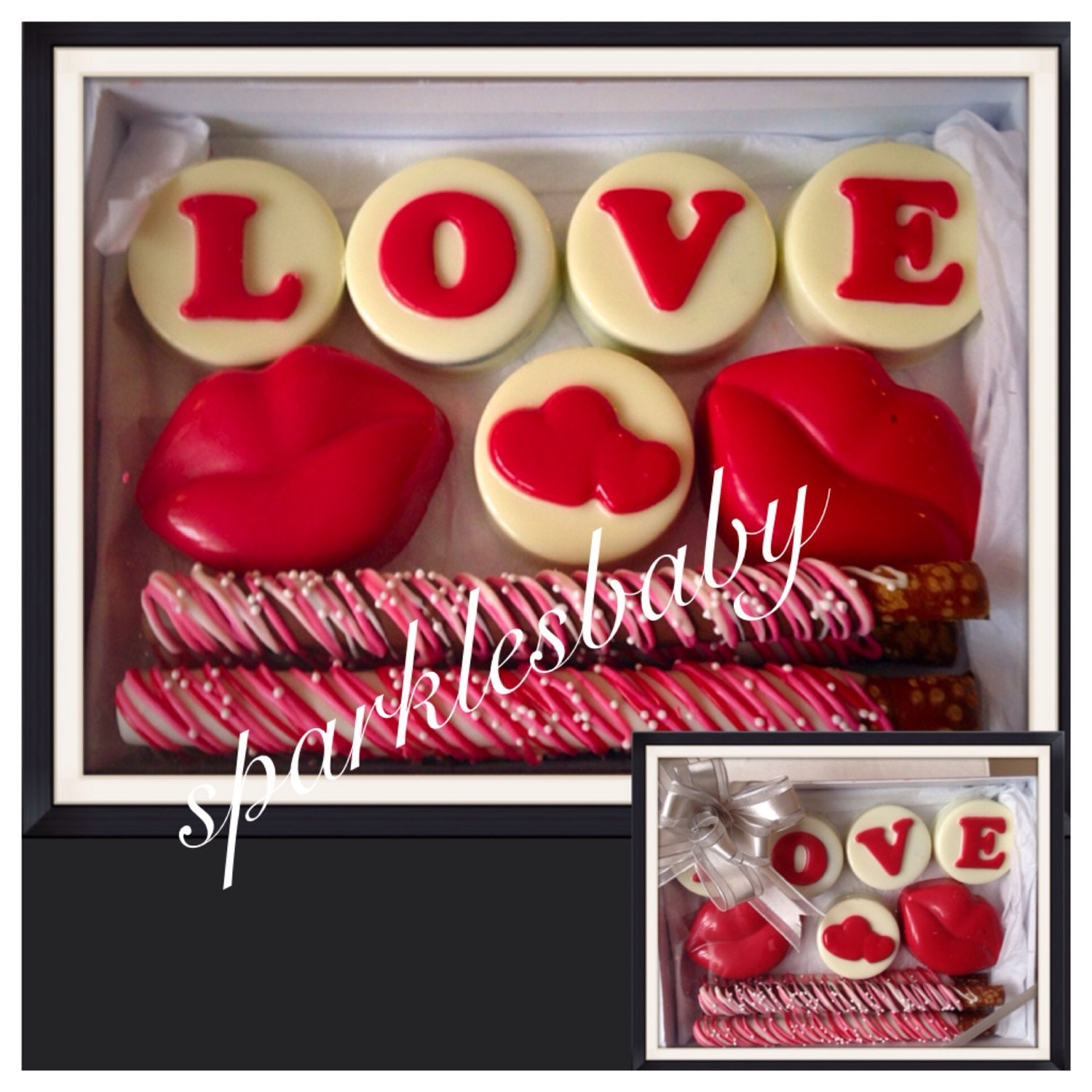Valentine S Day Chocolate Covered Oreo And Pretzel Gift Box