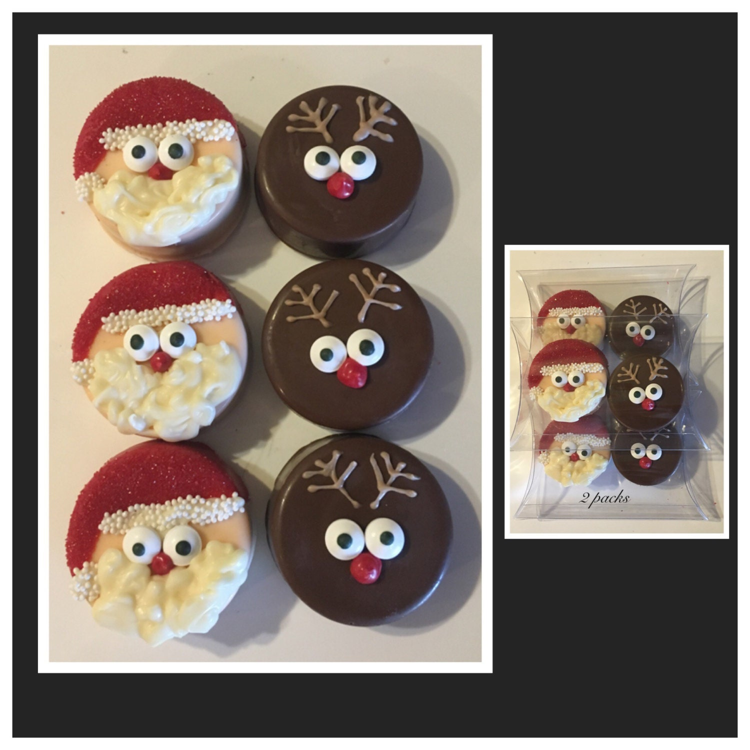 Santa Claus And Reindeer Christmas Chocolate Covered Oreos Set