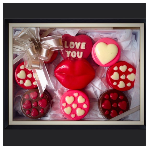 Valentine S Day Chocolate Covered Oreo Gift Box Etsy