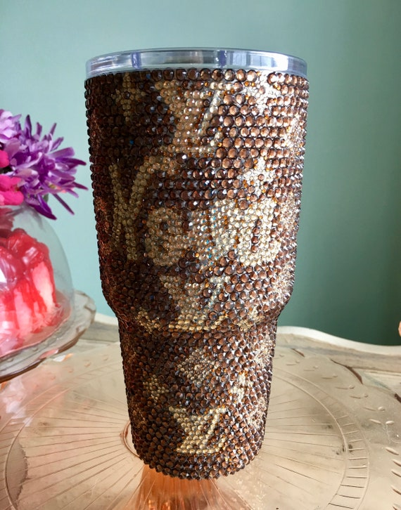 Rhinestone Yeti Rambler 30 oz with Louis Vuitton Logo and Personalization