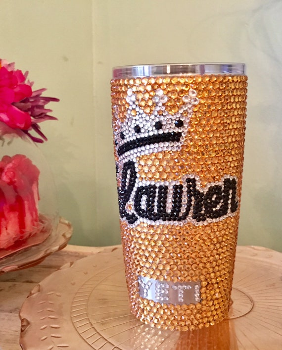 Rhinestone Yeti Rambler with Personalization 20 oz