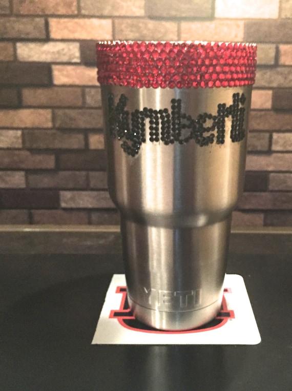 Yeti Rambler 30 oz with Rhinestone Name and Trim