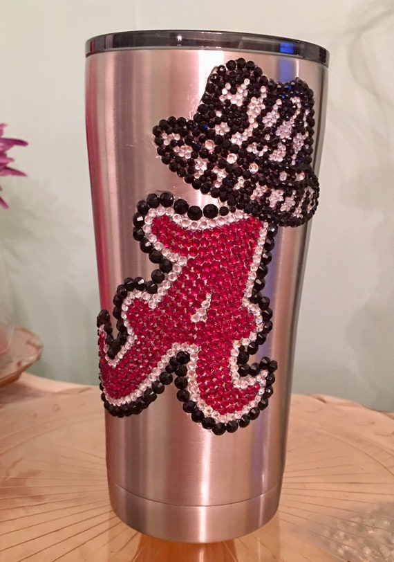 Rhinestone 20oz Yeti Rambler with Collegiate Logo