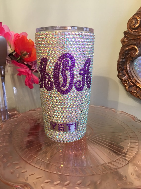 Rhinestone Yeti Rambler 20oz with Monogram