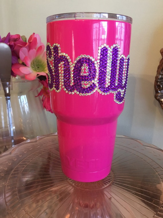 Yeti Rambler 30 oz with Rhinestone Name