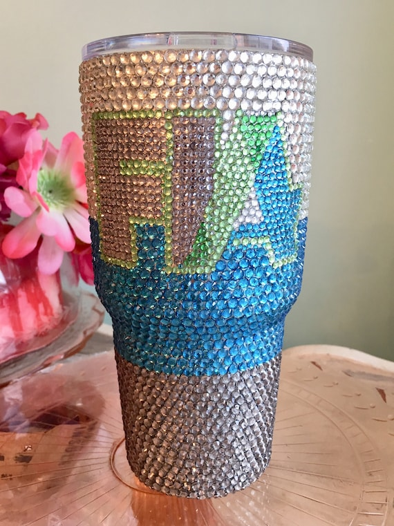 Rhinestone Yeti Rambler 30 oz with Business Logo