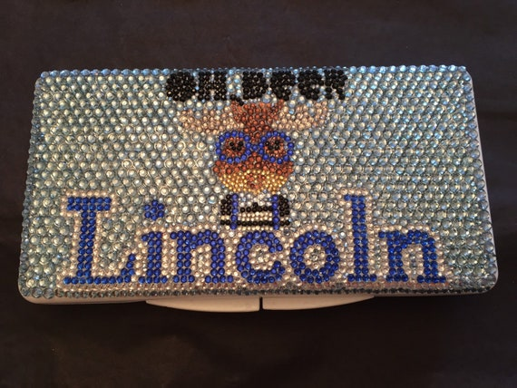 Rhinestone Personalized Baby Wipe Case with Oh Deer Theme