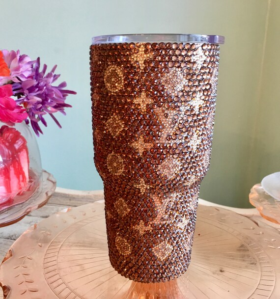 Rhinestone Yeti Rambler 30 oz with Louis Vuitton Logo