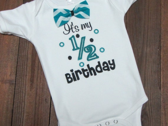 Its My Half Birthday Embroidered Shirt 1 2