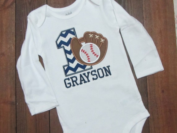 Baseball First Birthday Shirt