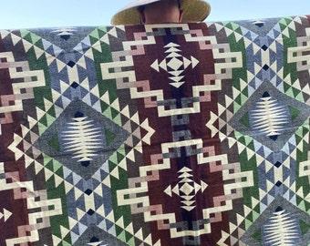 Alpaca Wool Blanket | Christmas Gift Idea | Throw Blanket | Bohemian Bedding | Stylish Picnic Blanket | Southwestern Blanket |