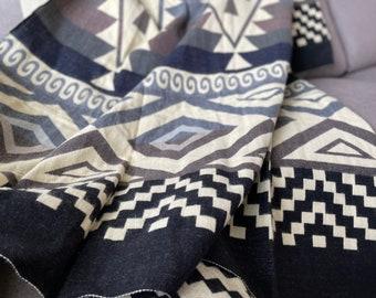 Alpaca Wool Blanket | Queen Blanket | Andean Throw Blanket | Farmhouse decor | Picnic Blanket | Alpaca Blanket Queen Christmas Gift Idea