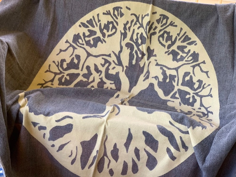 Tree of Life Queen Native Blanket Ecuador Alpaca Wool Blanket Picnic Blanket Andean blanket Throw Blanket Christmas Gift Idea