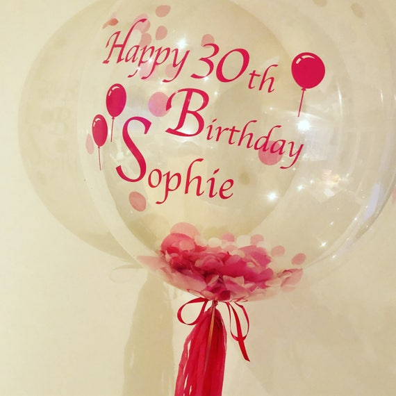 Birthday Personalised Helium Bubble Balloon In A Box