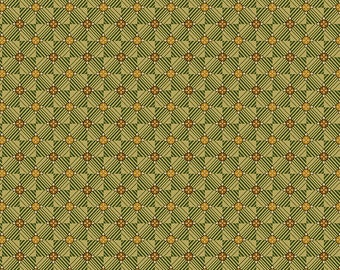 Bali Garden Gold Metallic Quilt Fabric by Kathy Hall Out Of Print Premium Cotton