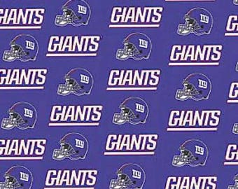New York Giants fabric National Football League NFL blue white helmets 100%  cotton fabric by the yard football bty 67dc168a4