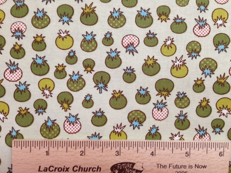 Jay McCarroll fabric Love tomatoes fabric JY02 green sewingquilting 100/% cotton fabric childrens novelty fabric by the yard
