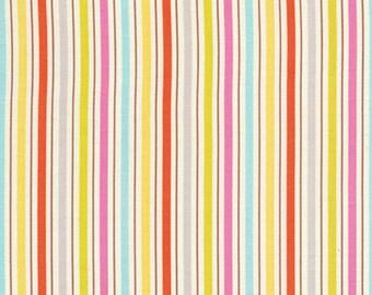 Dena Designs fabric Kumari Garden Tanaya DF103 pink green white yellow blue gray stripe quilting sewing crafts 100% cotton per yard