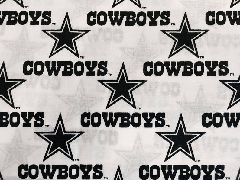 NFL Team Dallas Cowboys Patchwork Quilting Cotton Fabric By The Yard