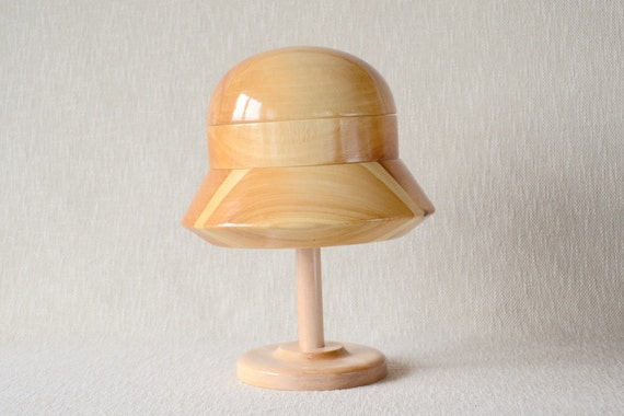 Pedestal Fans Blocking : Cloche hat block and stand set s etsy
