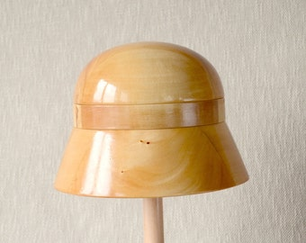 Wooden Cloche  Hat Block – Cloche SET  1 - Millinery Hat Block - Gift Idea for Creative Person