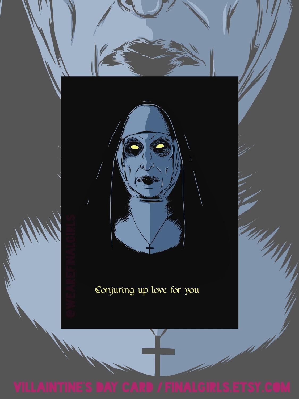 The Conjuring Nun Valak Greetings Card Etsy