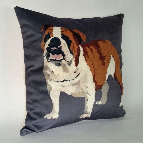 Bulldog pillow | Etsy