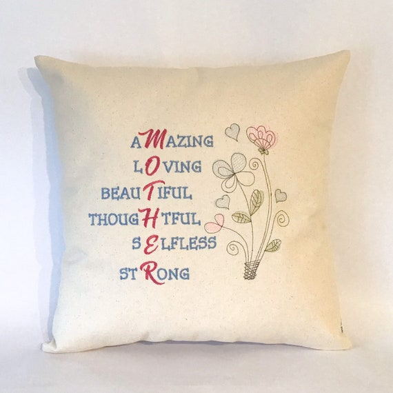 Mother cushion cover Mother pillow folk