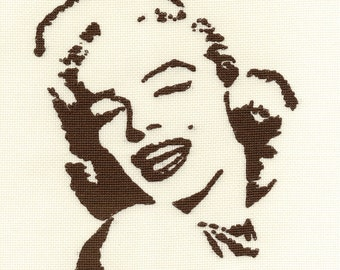 Marilyn Monroe 'Timeless' Cross Stitch Kit, filmstar icon, US icon, US idol, Norma Jean, Gentlemen Prefer Blondes, creative hobby