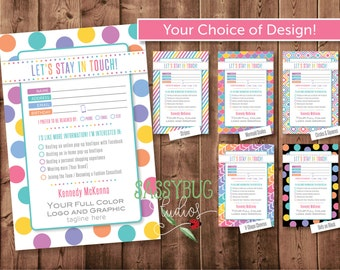 """Consultant """"Let's Stay in Touch"""" Customer Contact Cards 