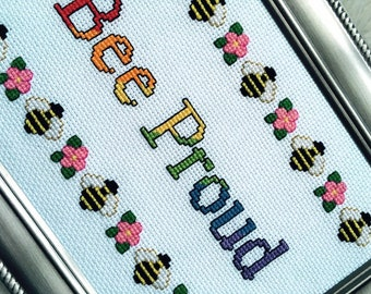 Bee Proud framed