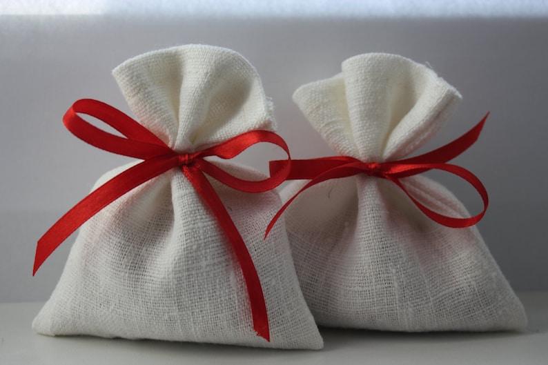 White Linen Favor Bags Medium 4 x 6 Set of 50 Wedding Favor Bags