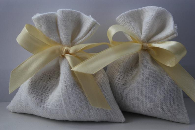 Wedding Favor Bags White Linen Favor Bags Medium 4 x 6 Set of 50