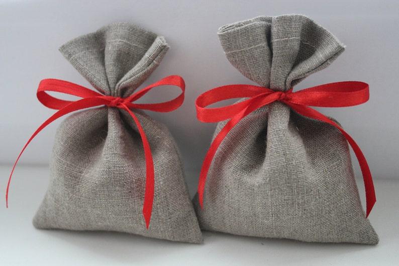 Set of 130 Wedding Favor Bags Grey Linen Favor Bags Medium 4 x 6