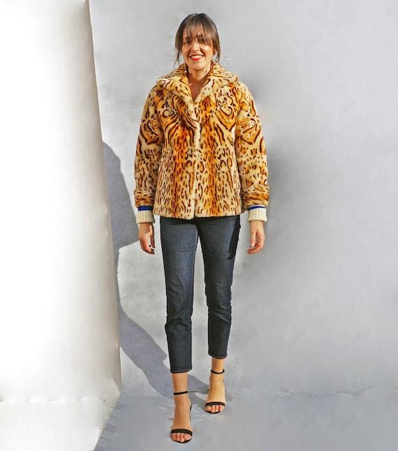 Boho Leopard Print Coat, Vintage Animal Print Fau… - image 4