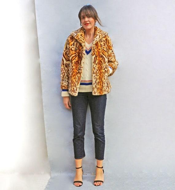 Boho Leopard Print Coat, Vintage Animal Print Fau… - image 2